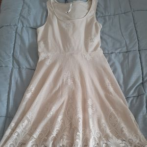 LC Lauren Conrad cream lace dress M